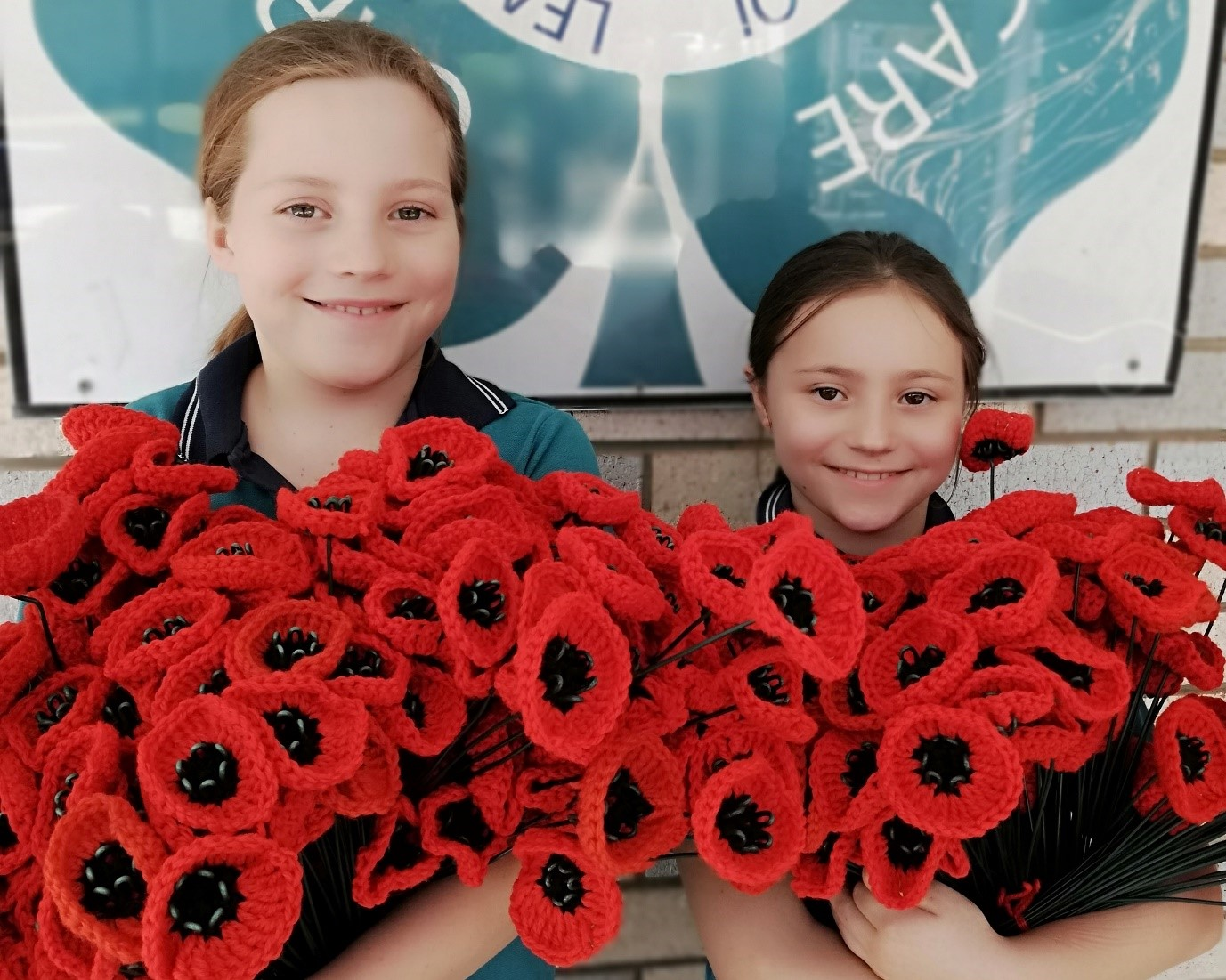 Noosaville State School's Garden of Poppies for Remembrance Day